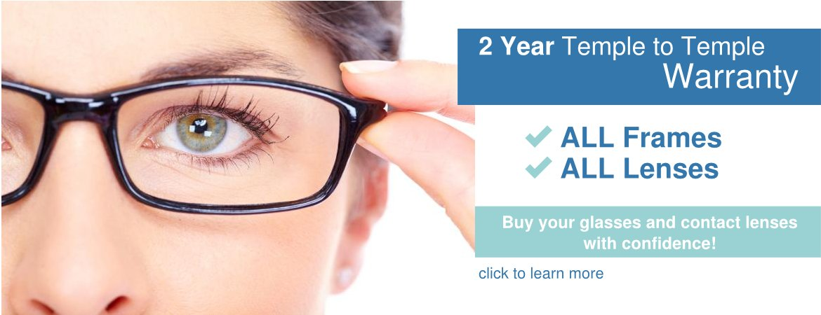 Two Year Temple to Temple Warranty at Advanced Family Vision Care